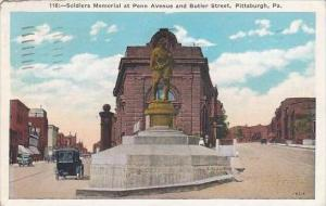 Pennsylvania Pittsburgh Soldiers Memorial At Penn Avenue And Butier Street 1935