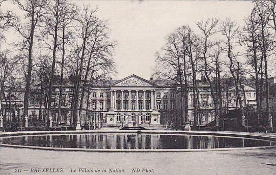 Belgium Brussells Le Palais De La Nation 1913
