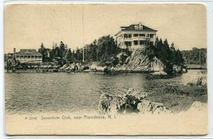 Squantum Club Providence Rhode Island 1907c postcard