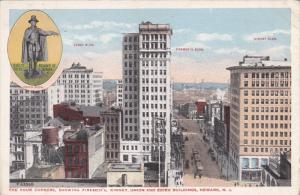 NEWARK, New Jersey, 1900-1910's; The Four Corners, Showing Firemen's, Kinney,...