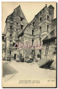 Old Postcard Dives sur Mer former dwelling of the 12th