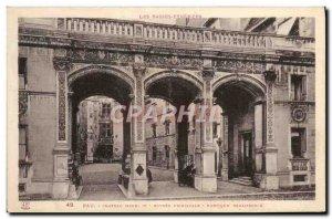 Old Postcard Pau Chateau Henry IV main entrance Renaissance Portico