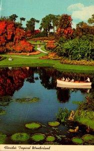 Florida Cypress Gardens Boating Among Lily Pads