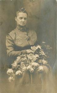 Boone Iowa Widow Funeral Roses 1912 RPPC Photo Postcard 4313