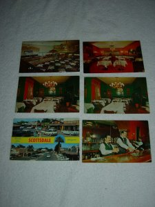 Scottsdale AZ - Lot Of 6 Great Vintage Postcards - x0601
