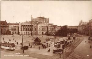 BG33417 tramway tram leipzig augustusplatz  neues theater    germany