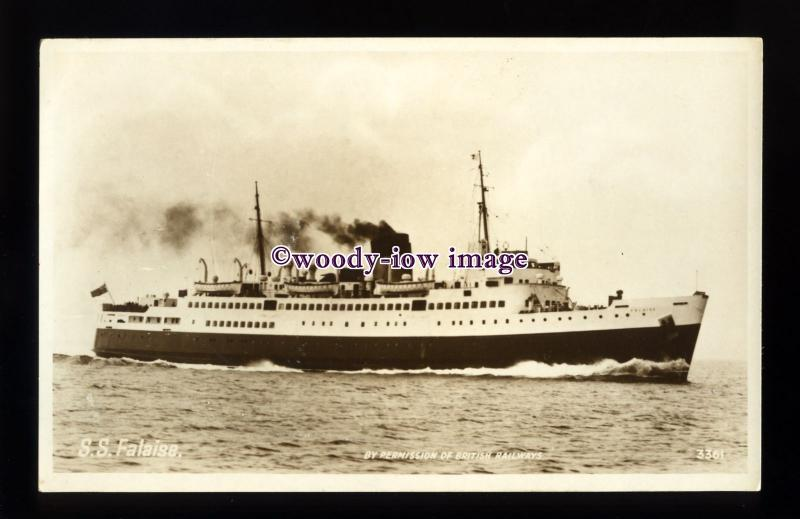 f1393 - British Railways Ferry - Falaise at Jersey - postcard