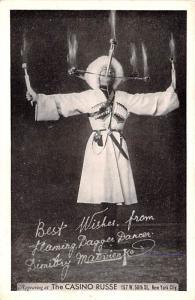 Circus Acts Post Cards Flaming Darrer Dancer Dimitry Matvienko Unused