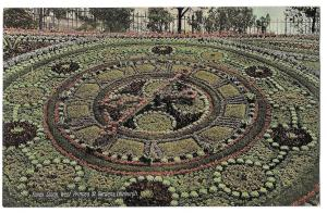 Scotland Edinburgh Floral Clock Gardens West Princes St Vntg Valentines Postcard