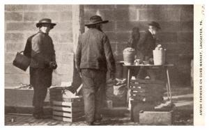 Pennsylvania  Lancaster, Amish Farmers on Curb Market