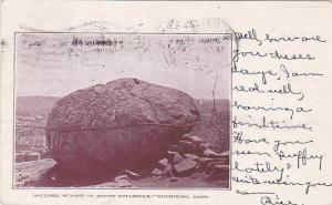 Massachusetts FitChburg Boulder Summit Of Mount Rollstone 1905