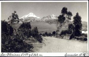 ecuador, QUITO, Los Ilinizas, Volcano (1940s) RPPC