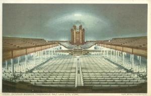Interior Mormon Tabernacle, Salt Lake City, Utah, early 1...