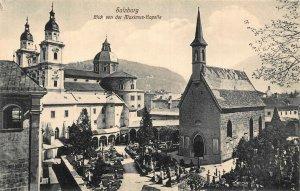 Salzburg Blick von der Maximus Kapelle Chapel Postcard