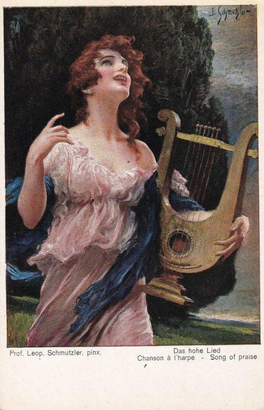 AS: Das hohe Lied Chanson a l'Harpe - Song of praise, Harp, 1900-10s