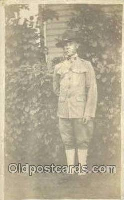 Adelbert G. Barnard Age 18, Enlisted July 20th 1918 WWI Real Photo Military S...