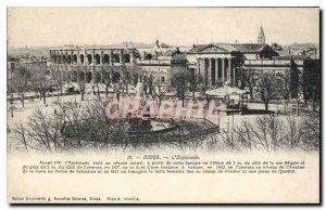 Postcard Old Nimes Esplanade