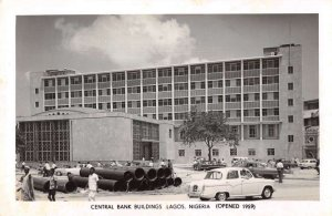 Lagos Nigeria Africa Central Bank Buildings Real Photo Vintage Postcard AA44133