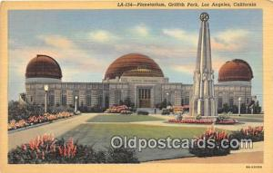 Space Postcard Post Card Los Angeles, CA, USA Planetarium, Griffith Park Spac...