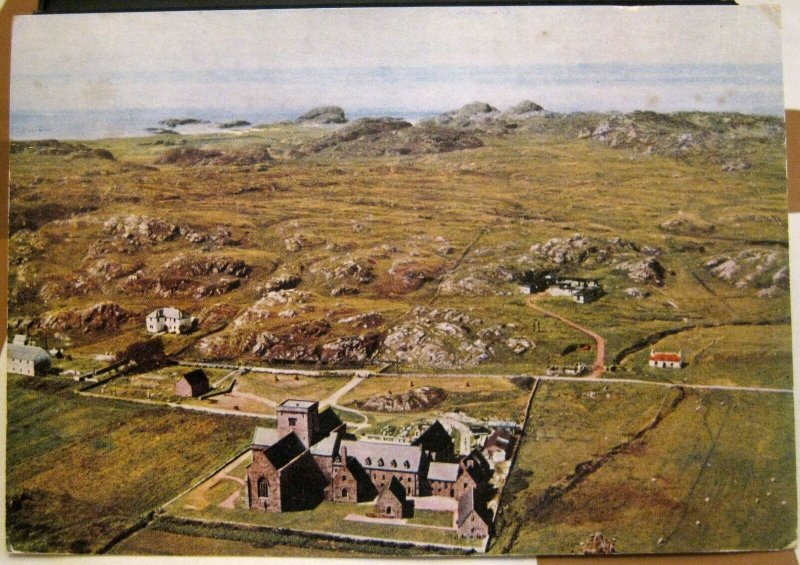 Scotland Iona Abbey from the Air - posted