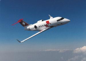 Rega-Ambulanzjet Challenger CL-64 Airplane ,80-90s ; Switzerland