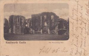 The Banquet Hall at Kenilworth Castle, Warwickshire, England, United Kingdom,...