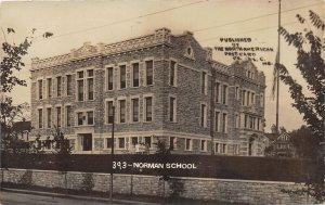 F52/ Kansas City Missouri RPPC Postcard 1911 Norman School Building
