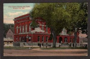 ME City Opera House WATERVILLE MAINE Postcard 1914 PC