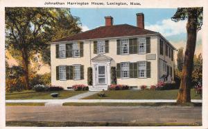 Jonathan Harrington House, Lexington, Massachusetts, Early Postcard, unused