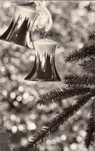 Christmas tree ornaments winter seasonal greetings postcard Hungary