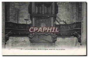 Old Postcard La Chaise Dieu Organ Buffet d & # 39orgues Together caryatids