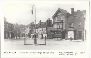 Surrey; Old Epsom, South St From High St Repro RP PPC By Pamlin, C1941