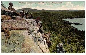 New York  Adirondack Mts. Climbing Rocky Mountain