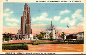 Pennsylvania Pittsburgh Cathedral Of Learning University Of Pittsburgh Campus...