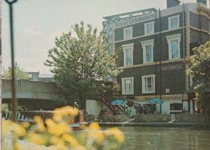 The Royal Cricketers Hertfordshire Canal Waterside Pub Postcard