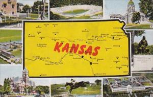 Map Of Kansas 1944