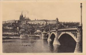 Czechoslovakia Praha Hradcany a Maneauv most 1947 Real Photo