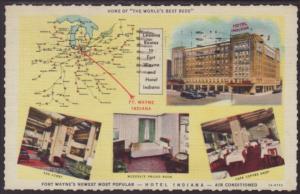 Hotel Indiana,Fort Wayne,IN Postcard