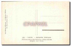 Postcard Old Louvre Taurus wing human head Sargon