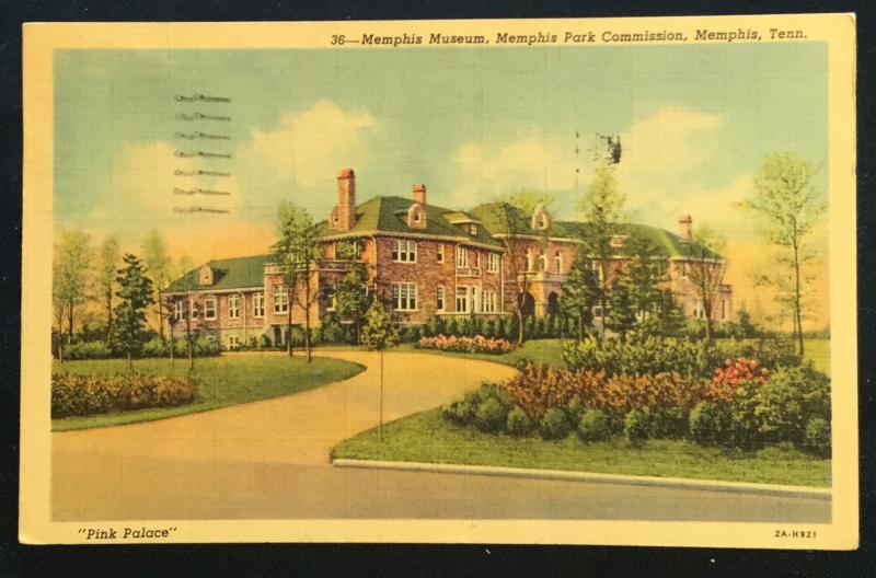 Postcard Used 36-Memphis Museum Pink Palace Memphis TN LB