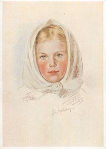 Portrait of a girl Hed von Schlieben Postcard