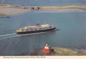 The Bluenose Ferry Boat Entering Yarmouth Harbour, Straight Edge, Nova Scotia...