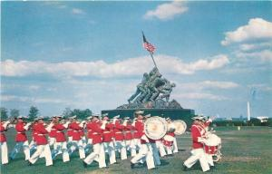 Arlington Virginia~US Marine Corps War~Marching Band ~Iwa Jima Sculpture~1950s