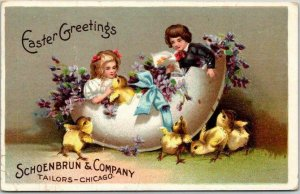 1912 Chicago IL Advertising Postcard SCHOENBRUN & COMPANY Easter Greetings