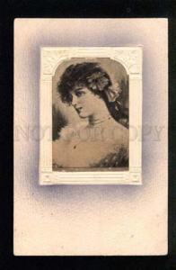 037792 Charming Young Lady. By ASTI old Art Nouveau