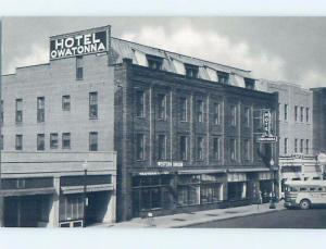 Unused Pre-1980 SHOPS ON STREET BY HOTEL Owatonna Minnesota MN B0255