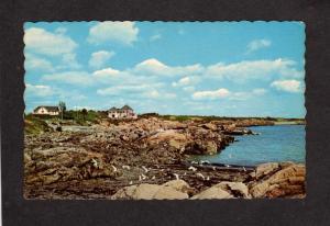 ME Fortunes Rocks Biddeford Pool Maine Camps Cottages Postcard