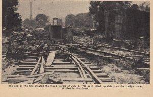 BINGHAMTON , New York , 1935 ; Debris from flood on railroad Tracks