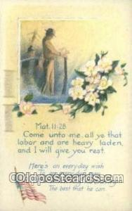 Mat 11 28 Religion, Religious Old Vintage Antique Postcard Post Cards  Mat 11 28