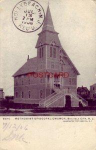pre-1907 METHIDIST EPISCOPAL CHURCH, SEA ISLE CITY, N. J. 1906